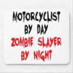 Motorista del asesino del zombi alfombrilla de raton