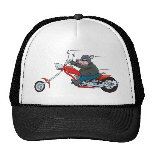 Motorista del cerdo gorra