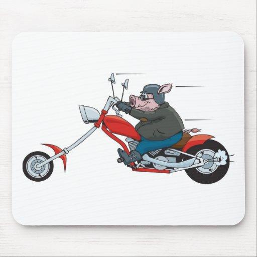 Motorista del cerdo tapete de raton