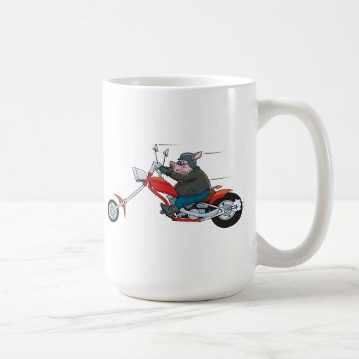 Motorista del cerdo taza de café