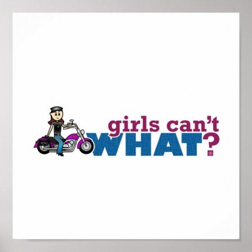 Motorista del chica póster