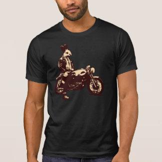Motorista del conejito camiseta