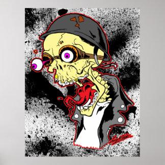 Motorista del cráneo póster