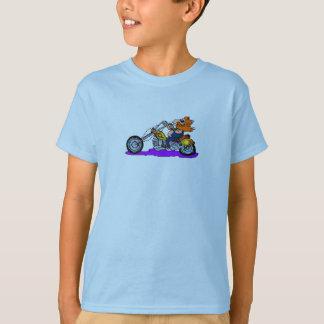 Motorista del dibujo animado playera