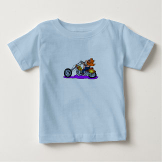 Motorista del dibujo animado playera de bebé