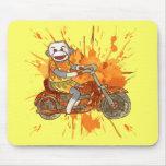 Motorista del mono del calcetín tapetes de raton