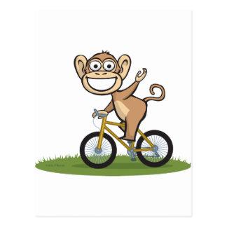 Motorista del mono tarjeta postal