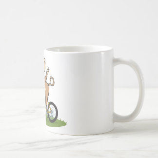 Motorista del mono taza de café