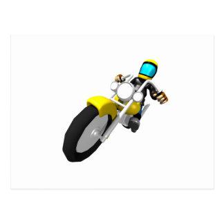 Motorista del motocrós postal