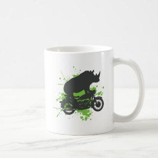 Motorista del rinoceronte taza