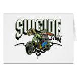 Motorista del suicidio felicitación