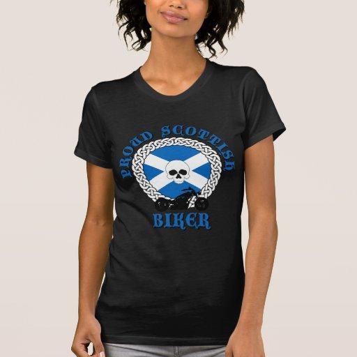 Motorista escocés orgulloso camiseta