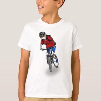 Motorista esquelético de la montaña camisas