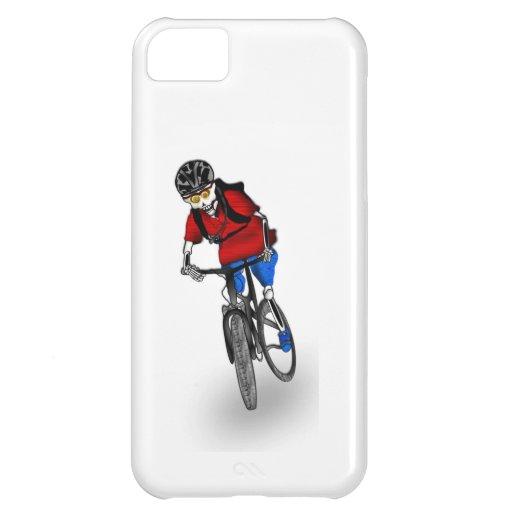 Motorista esquelético de la montaña funda para iPhone 5C