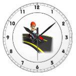 Motorista femenino reloj de pared