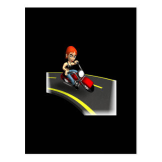 Motorista femenino postal