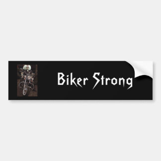 Motorista fuerte etiqueta de parachoque