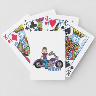 Motorista - luz baraja de cartas
