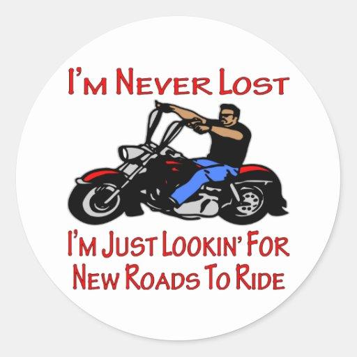 Motorista me nunca pierden apenas que busca los pegatina redonda