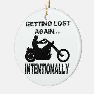 Motorista que se pierde otra vez intencionalmente adorno redondo de cerámica