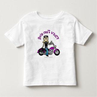 Motorista rubio playera de bebé