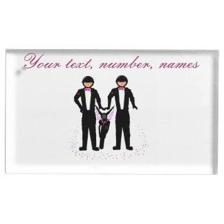 Motorista wedding/el tenedor civil del lugar de la soportes de tarjeta de mesa