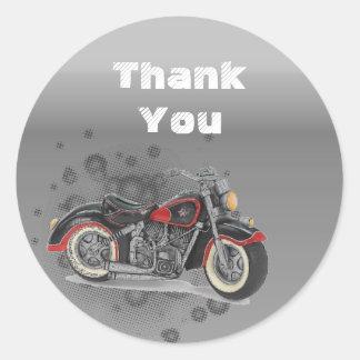 Motorista WeddingFavor de la motocicleta del Etiquetas Redondas