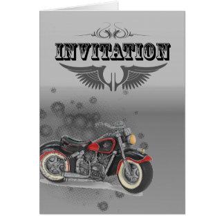 Motorista WeddingFavor de la motocicleta del Tarjeta