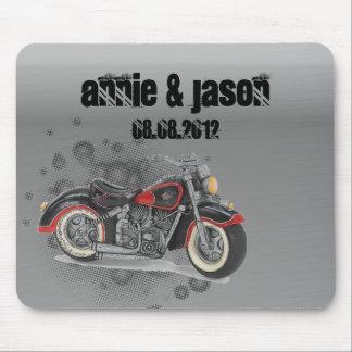 Motorista WeddingFavor de la motocicleta del vinta Tapete De Raton