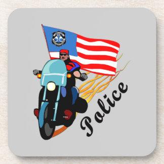 Motoristas de la policía posavasos