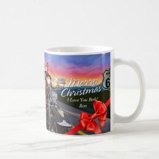 Motoristas de las Felices Navidad 1 taza