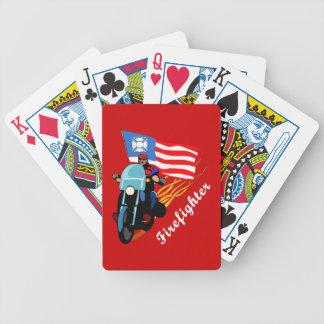 Motoristas del bombero baraja cartas de poker
