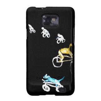 ¡Motoristas locos en la oscuridad! Samsung Galaxy SII Carcasas