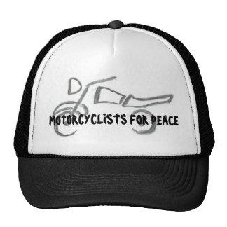 Motoristas para la paz gorros