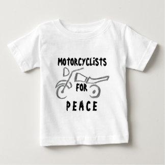 Motoristas para la paz playera de bebé