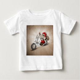 Motorized Santa Claus Baby T-Shirt