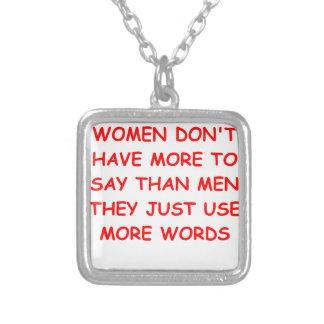 motormouth square pendant necklace