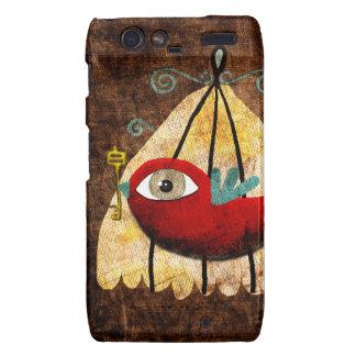 Motorola Droid RAZR Case Red bird cage victorian