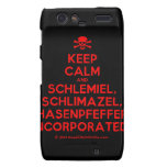 [Skull crossed bones] keep calm and schlemiel, schlimazel, hasenpfeffer incorporated!  Motorola Droid RAZR Cases