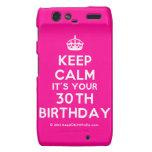 [Crown] keep calm it's your 30th birthday  Motorola Droid RAZR Cases