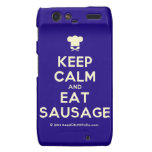 [Chef hat] keep calm and eat sausage  Motorola Droid RAZR Cases