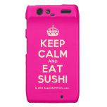 [Crown] keep calm and eat sushi  Motorola Droid RAZR Cases