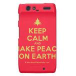 [Xmas tree] keep calm and make peace on earth  Motorola Droid RAZR Cases