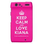 [Crown] keep calm and love kiana  Motorola Droid RAZR Cases