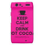 [Cup] keep calm and drink hot cocoa  Motorola Droid RAZR Cases