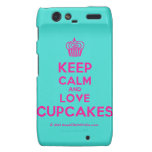 [Cupcake] keep calm and love cupcakes  Motorola Droid RAZR Cases