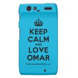 [Crown] keep calm and love omar  Motorola Droid RAZR Cases