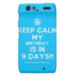 [Cupcake] keep calm my birthday is in 9 days!!  Motorola Droid RAZR Cases