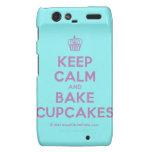 [Cupcake] keep calm and bake cupcakes  Motorola Droid RAZR Cases