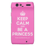 [Crown] keep calm and be a princess  Motorola Droid RAZR Cases